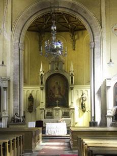 Kostel sv. Kateřiny v Krásně - interiér