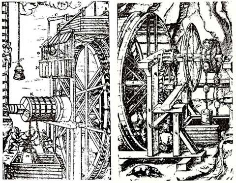 Pluhova dědičná štola - kresby Agrikola